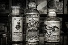 Snake Oils - Old Time Treatments Stock Photos