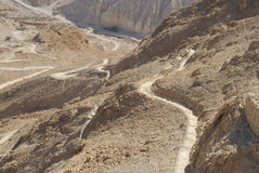Snake path of Masada Royalty Free Stock Photos