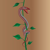 Snake with plant Stock Photography