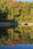 Snake Pond Autumn Reflections Royalty Free Stock Image