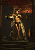 The Snake Priestess 3d CG Stock Photography