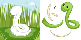 Snake puzzle vector illustration