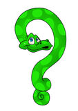 Snake question Stock Photo