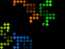 Snake, retro style game pixelated graphics. Snake, retro old style game pixelated graphics Stock Photo