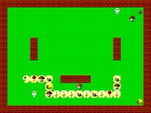Snake, retro style game pixelated graphics. Texture Royalty Free Stock Photos