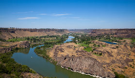 Snake River. The Snake is a major river of the greater Pacific Northwest Royalty Free Stock Image