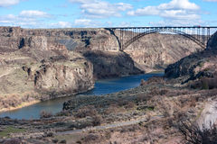 Snake River Canyon at Twin Falls, Idaho Stock Photos