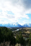 Snake river at Grand Teton. The same view with Ansel Adams...my best inspirational Designer Royalty Free Stock Images