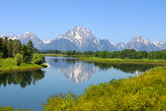 Snake River and Grand Tetons Royalty Free Stock Images