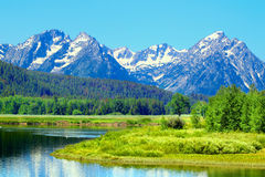 Snake River and Grand Tetons Stock Photography