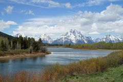 Oxbow Bend in Grand Teton National Park royalty free stock photo