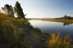 Snake River in morning light, Teton National Park, Wyoming. Stock Photography