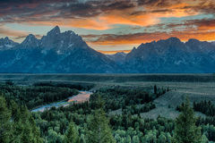 Snake River Overlook Royalty Free Stock Photos