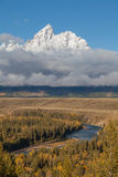 Snake River Overlook in Fall Royalty Free Stock Photos