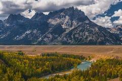 Snake River Overlook - Grand Teton National Park Stock Images