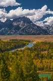Snake River Overlook - Grand Teton National Park Royalty Free Stock Images