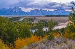 Snake River Overlook - Grand Teton National Park Royalty Free Stock Image