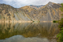 Snake River Reflection in Hell's Canyon Royalty Free Stock Images