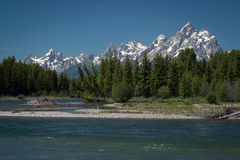 Snake River storslagen Teton nationalpark Arkivbilder
