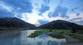 Snake River at sunrise clouds in Alpine Wyoming where it meets the Greys River. Snake River at Sunrise in Alpine Wyoming USA where it meets the Greys River Royalty Free Stock Image