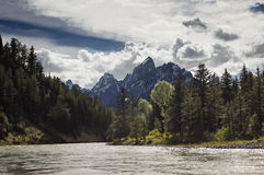 Snake River and Tetons Royalty Free Stock Photos