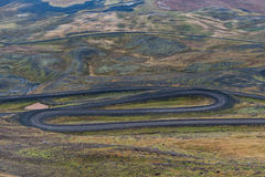Snake Road in Iceland. Stock Image