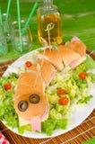 Snake sandwich Stock Images