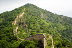 Snake shape of the great wall climbing mountains Stock Photography