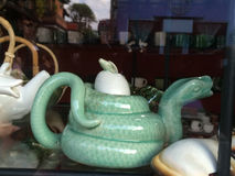 Snake Shaped Teapot, Ubud,  Central Bali, Indonesia Royalty Free Stock Image