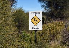 Snake Sign Stock Photography