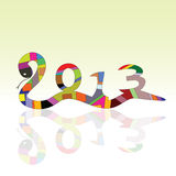 Snake  sign for 2013 year. Illustration Royalty Free Stock Photography