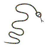 Snake silhouette vector Royalty Free Stock Photography