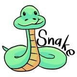 Snake simple cartoon stock photos