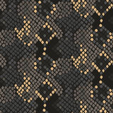 Snake skin artificial seamless vector texture. Stock Image