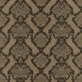 Snake Skin Colorful Animal Beige Seamless Pattern. Snake skin beige and brown seamless pattern. Animal colorful repeat wallpaper for textile prints, backgrounds stock illustration