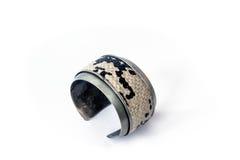 Snake skin bracelet royalty free stock photography