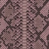 Snake Skin Colorful Animal Pink Seamless Pattern. Snake skin pink and maroon seamless pattern. Animal colorful repeat wallpaper for textile prints, backgrounds stock illustration