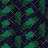 Snake skin green artificial seamless vector texture. Stock Photos