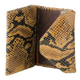 Snake skin leather wallet Royalty Free Stock Image