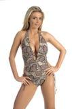 Snake Skin Monokini Royalty Free Stock Image