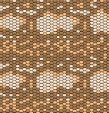 Snake skin pattern in vintage style, reptile texture. Animal print. Can be used for fabrics, wallpapers, scrap-booking royalty free illustration