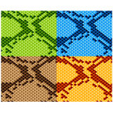 Snake skin seamless wallpaper Royalty Free Stock Images