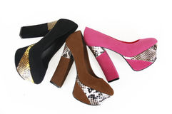 Snake skin shoes Royalty Free Stock Photo