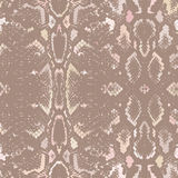 Snake skin texture. Seamless pattern beige brown background. Vector Royalty Free Stock Photo
