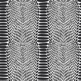 Snake skin texture. Seamless pattern black on white background. Royalty Free Stock Image