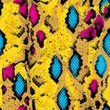 Snake skin texture. Seamless pattern pink blue