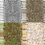 Snake skin texture set. Seamless pattern black on white background. Vector Stock Photos