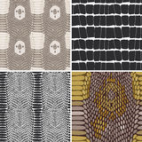 Snake skin texture set. Seamless pattern. Vector Royalty Free Stock Image