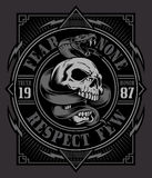 Snake Skull T-shirt Graphic Royalty Free Stock Photos