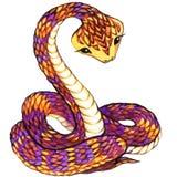 Snake. Snake watercolor. Royalty Free Stock Photos